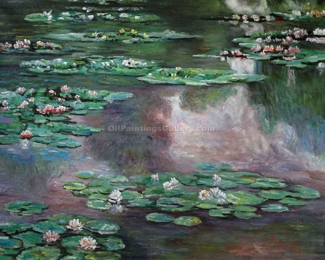 Claude Monet Water Lilies - Water Lilies Painted By Claude Monet - HD Wallpaper