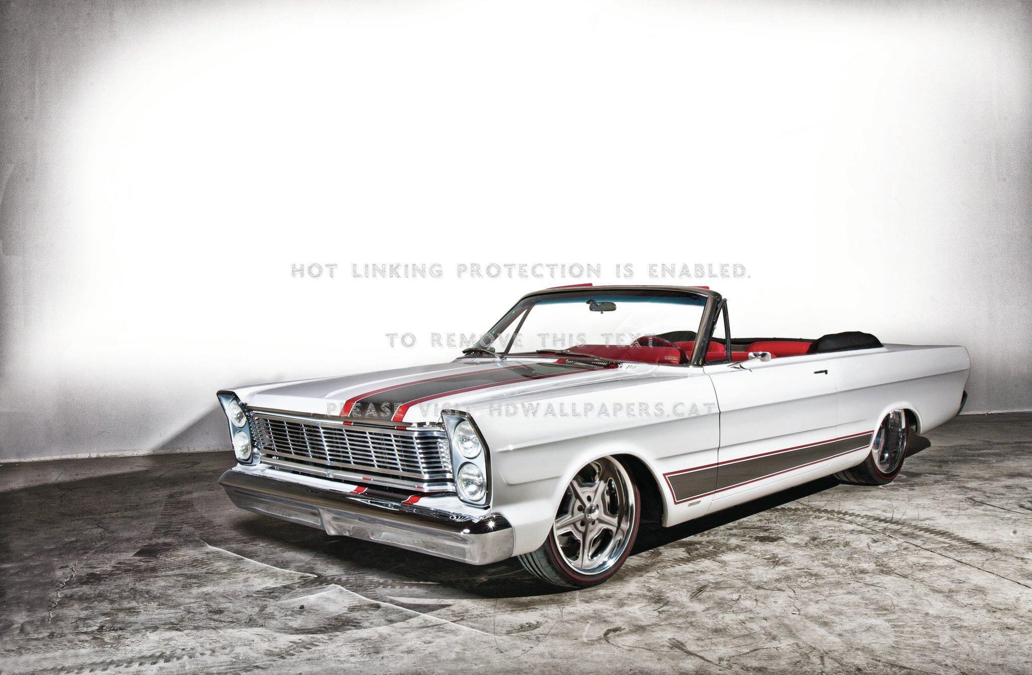 1965 Ford Galaxie 500 Muscle Car White Conv - Ford Galaxie Hot Rod - HD Wallpaper