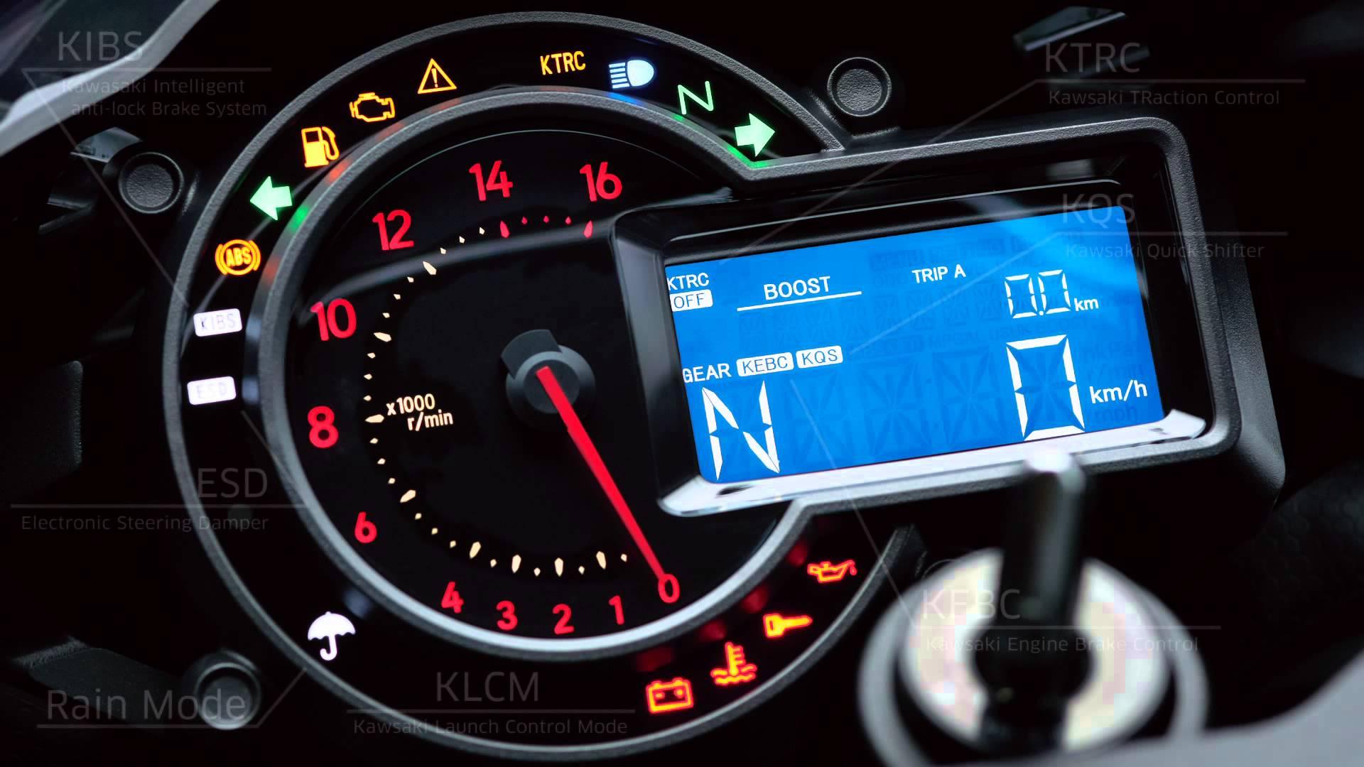 Kawasaki Ninja H2r Speedometer 1920x1080 Wallpaper Teahub Io