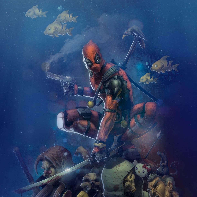 Marvel Superhero Gun And Swords Deadpool Wallpaper Deadpool Wallpaper 4k For Mobile 1224x1224 Wallpaper Teahub Io