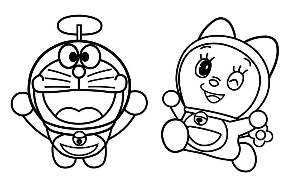 Tema Gambar Mewarnai Kartun Doraemon Cetak - Shinchan Cartoon - HD Wallpaper
