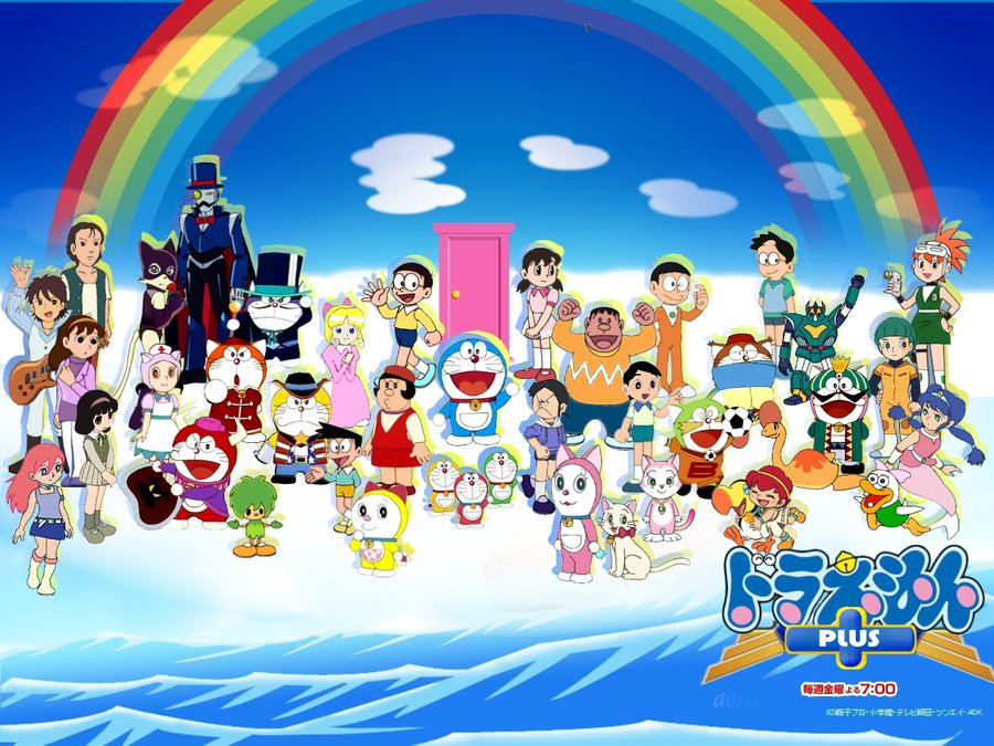 Gambar Wallpaper Doraemon - Gambar Doraemon Dan Kawan Kawan - HD Wallpaper