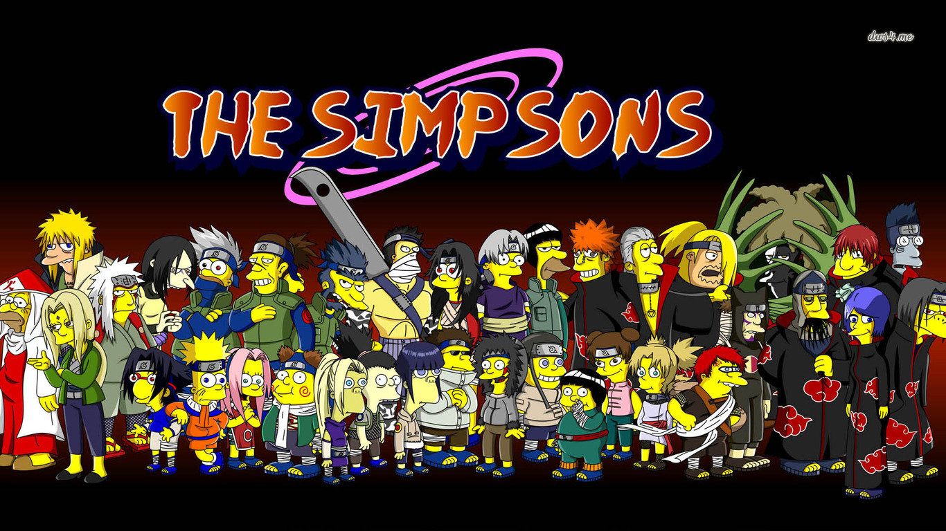 High Resolution The Simpsons Hd Wallpaper Id - Simpsons Naruto - HD Wallpaper