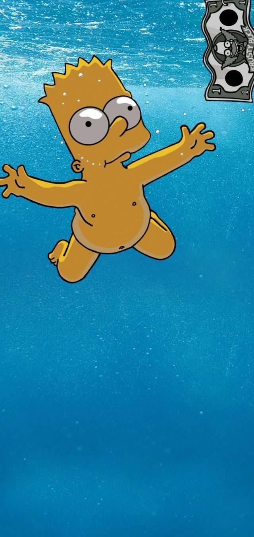 Simpson Wallpaper I Did For S10 - Bart Simpson - HD Wallpaper