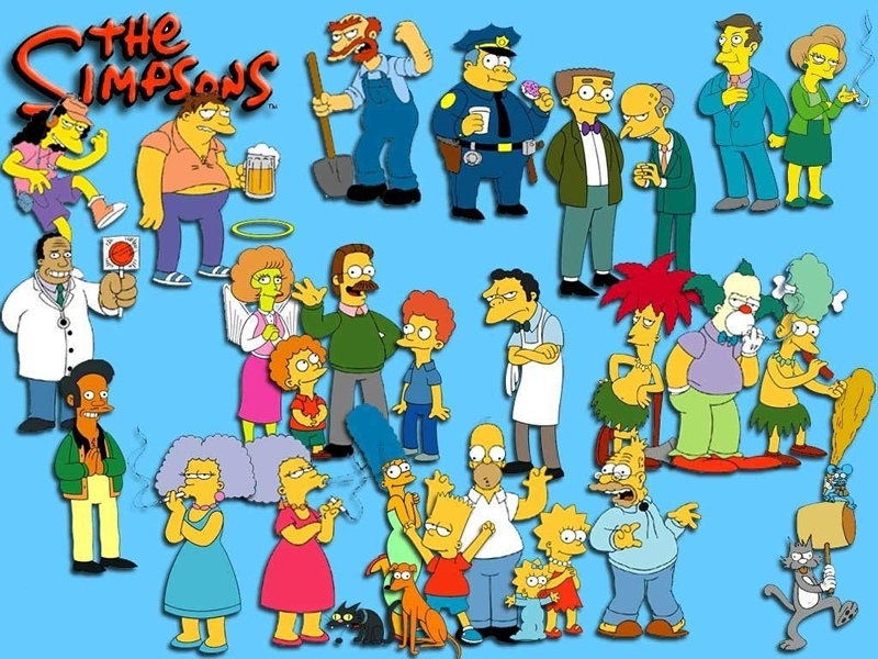The Simpsons - Simpsons Wall Paper With Characters - HD Wallpaper