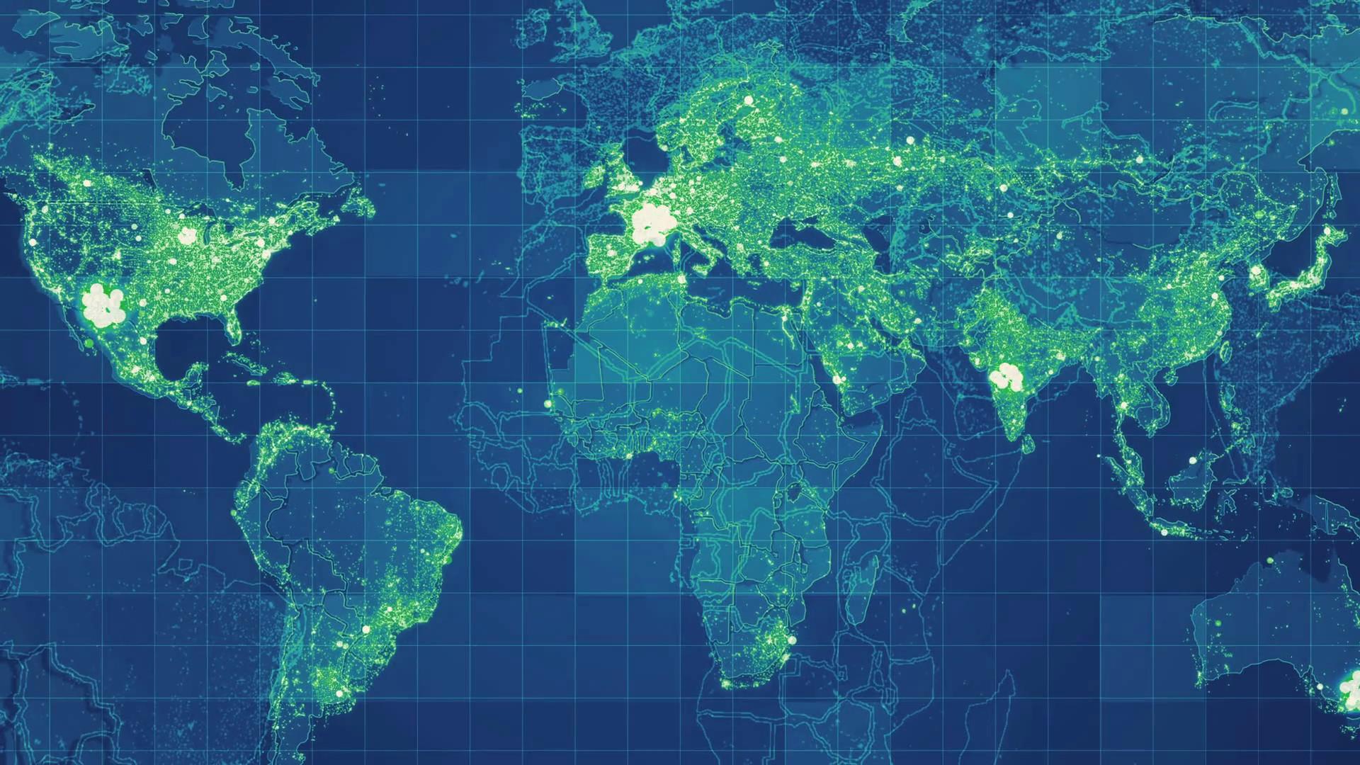 1920x1080, New Global Map Network Green - Ch Robinson - HD Wallpaper