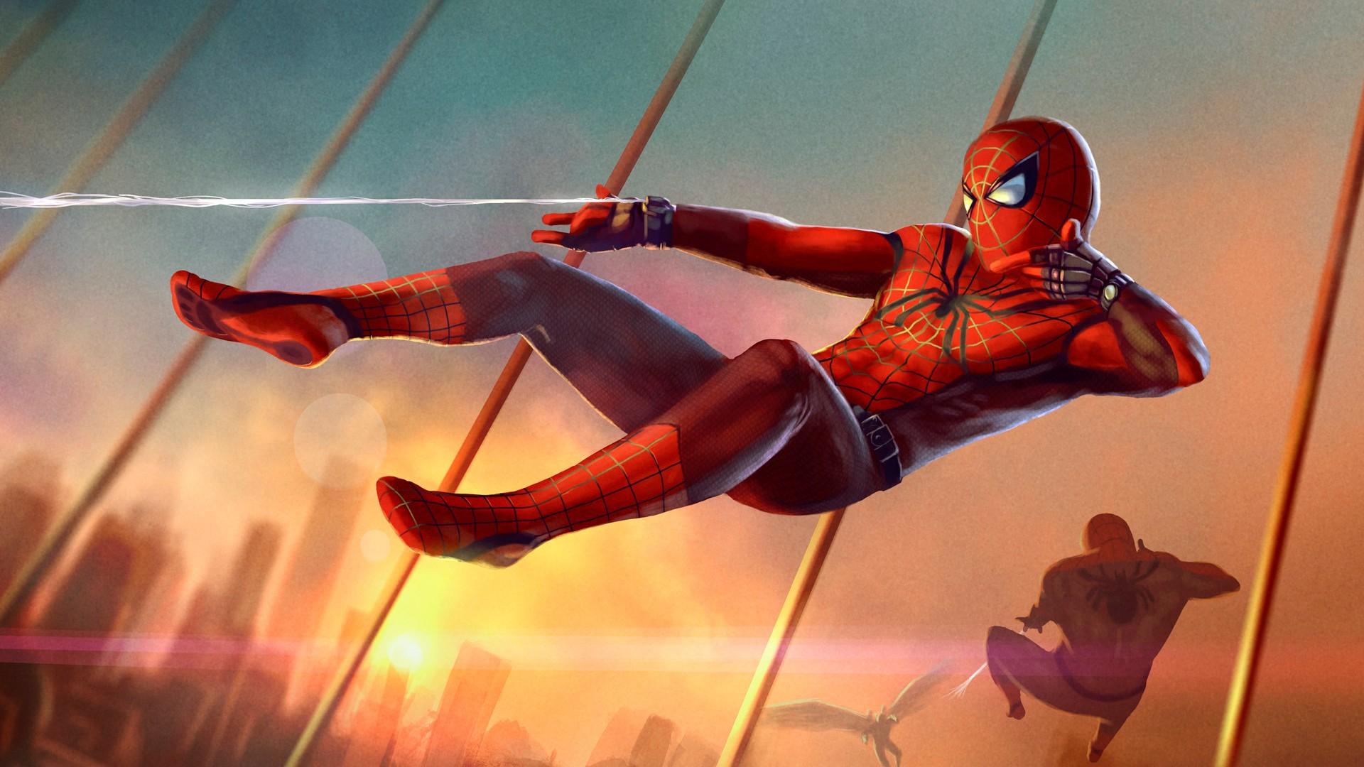 Spiderman Art Hd - Spiderman Wallpaper Hd Marvel - HD Wallpaper