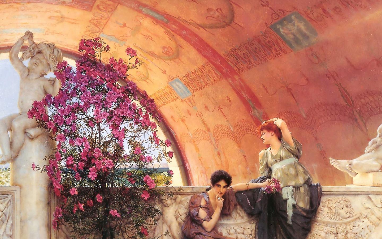 Lawrence Alma Tadema Unconscious Rivals - HD Wallpaper