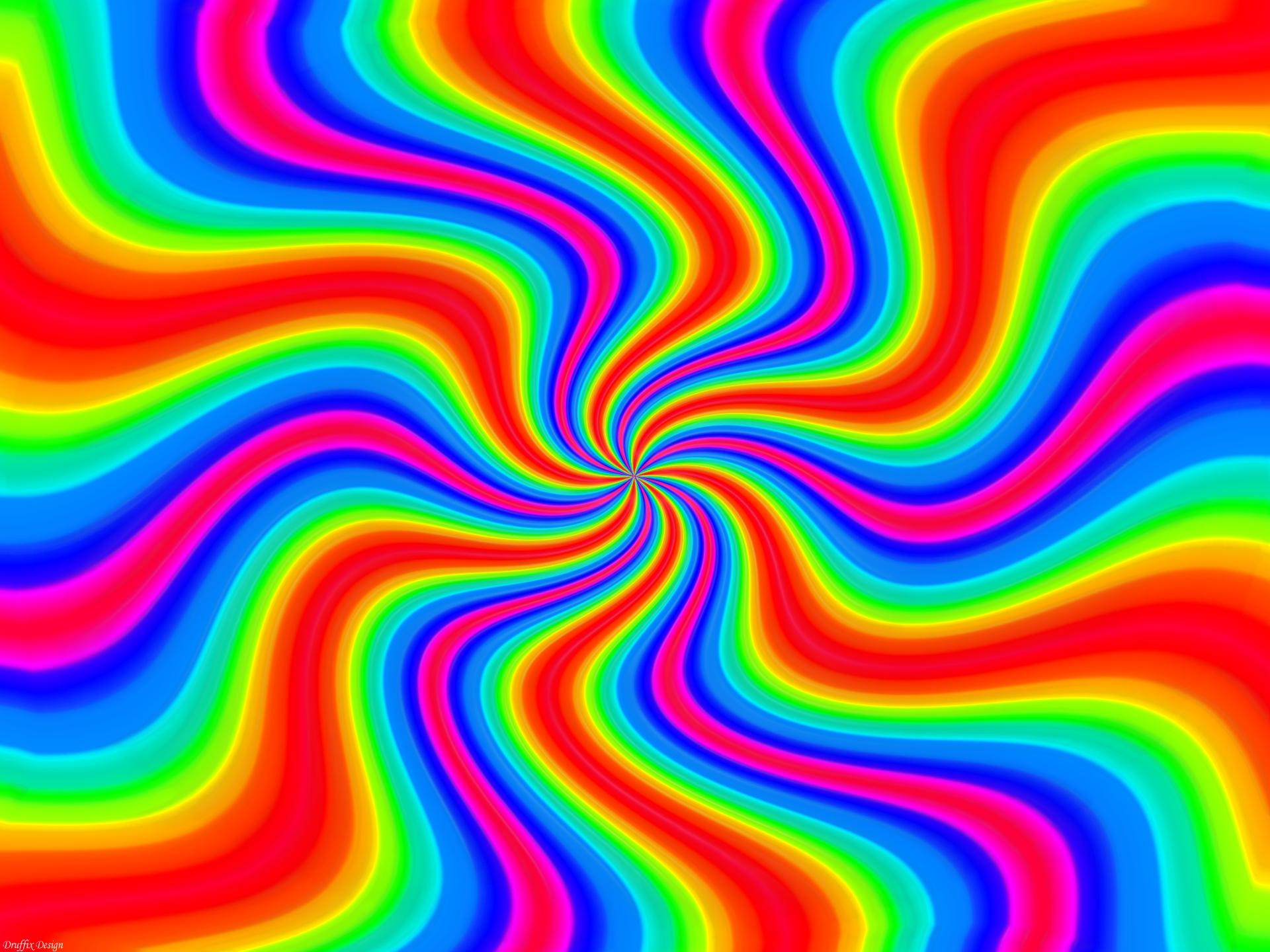 Stunning Rainbow Wallpaper - Cool Rainbow Color Background - HD Wallpaper