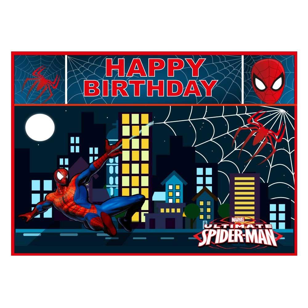 Party Propz Spiderman Wallpaper - Spiderman Birthday Wallpaper Hd - HD Wallpaper