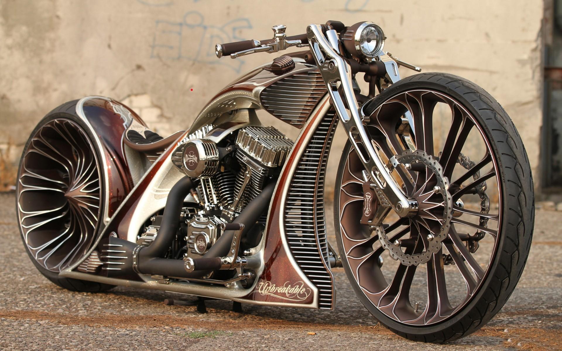 3d Cool Bike Wallpaper - Custom Bikes - HD Wallpaper