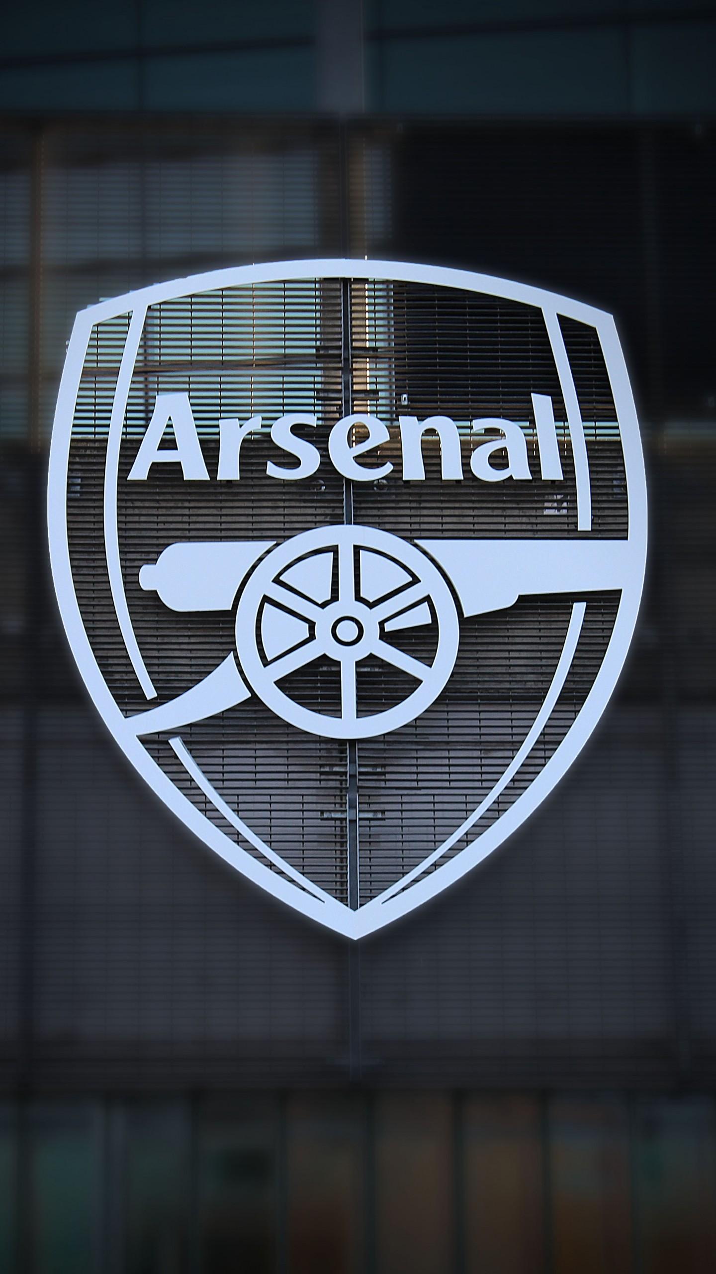 Arsenal Black And White Logo 1440x2560 Wallpaper Teahub Io