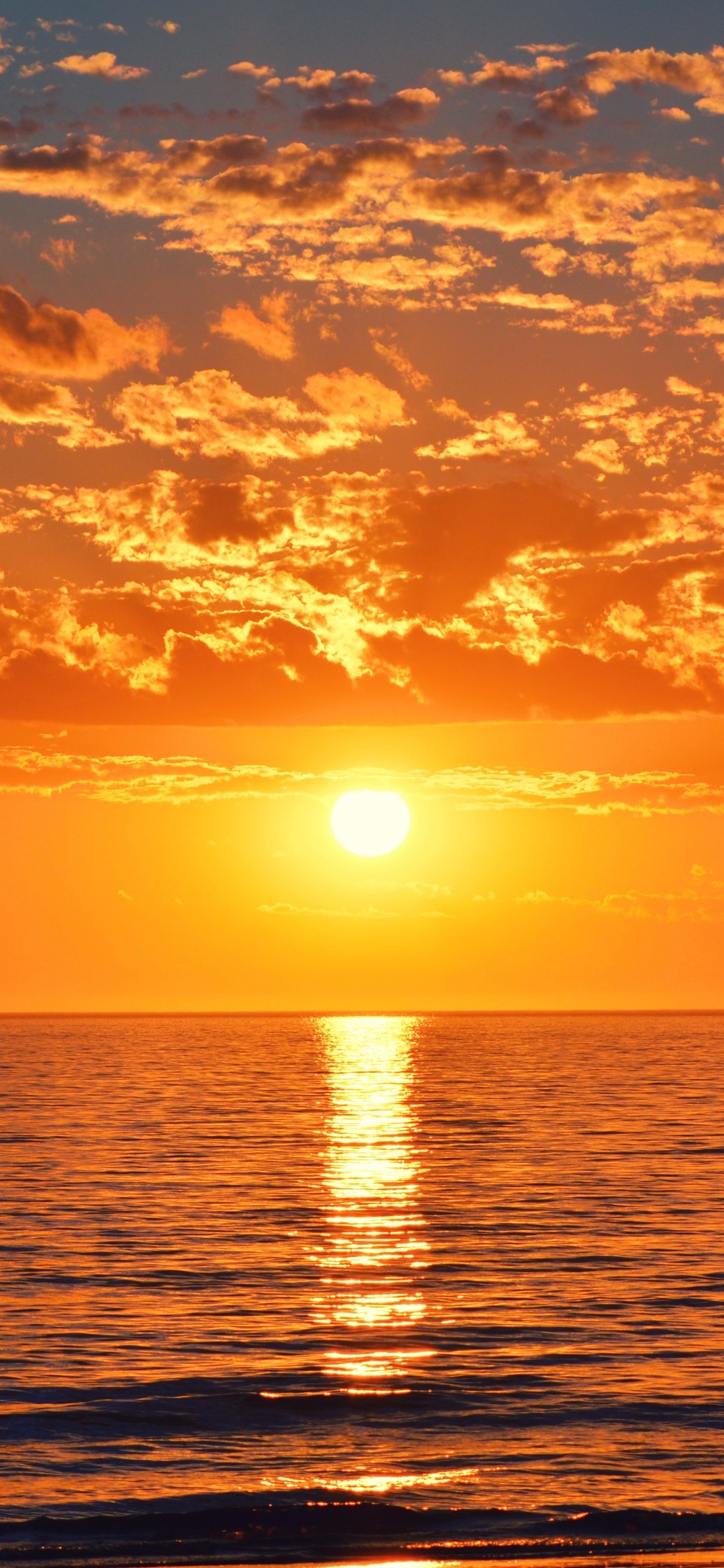 Sunsets Over The Water Wallpapers For Iphone - Beautiful Ocean Real Sunset - HD Wallpaper