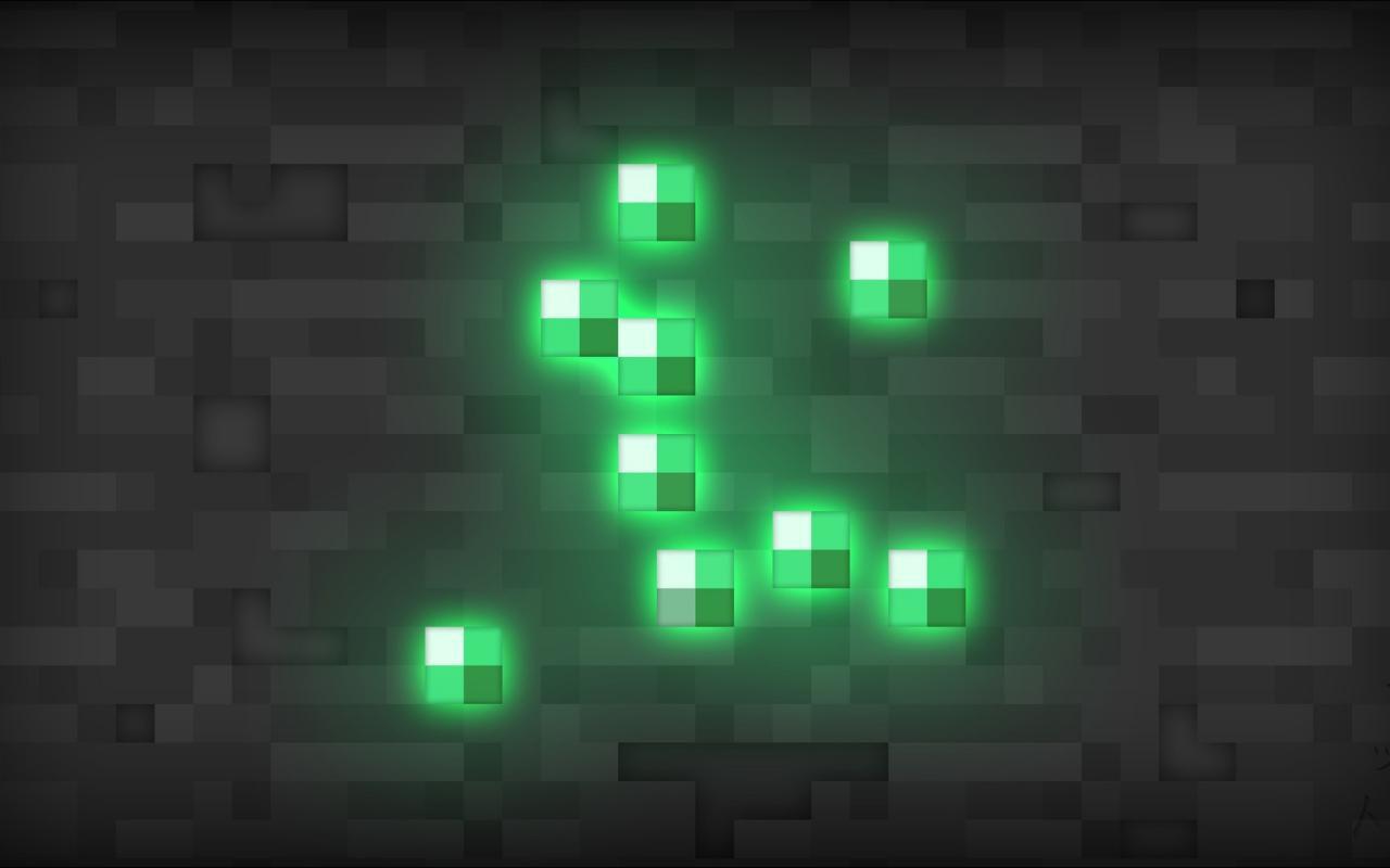 Minecraft Wallpaper Emerald - 1280x800