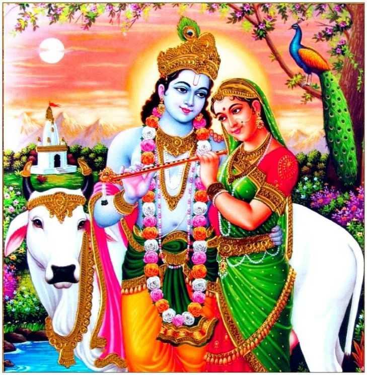 Whatsapp Dp Wallpaper Shri New Radha Beautiful Krishna - HD Wallpaper