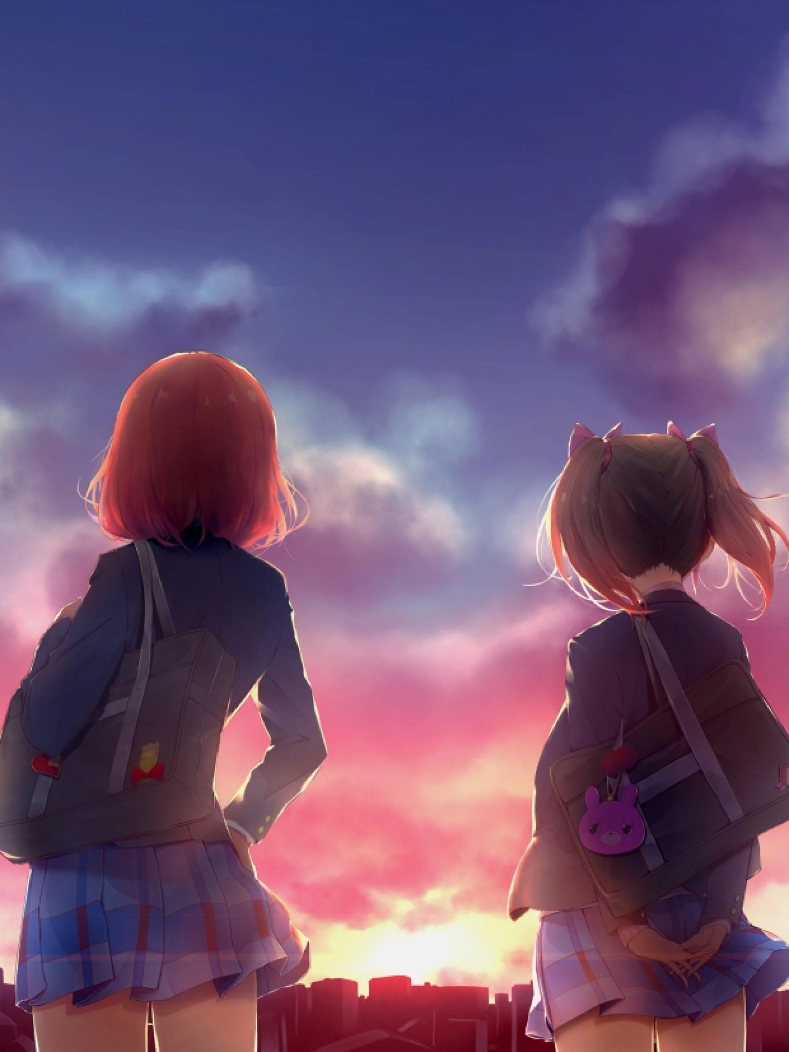 Anime Lanscape, Sunset, Clouds, Love Live - Love Wallpaper Anime 2560 X 1440 - HD Wallpaper