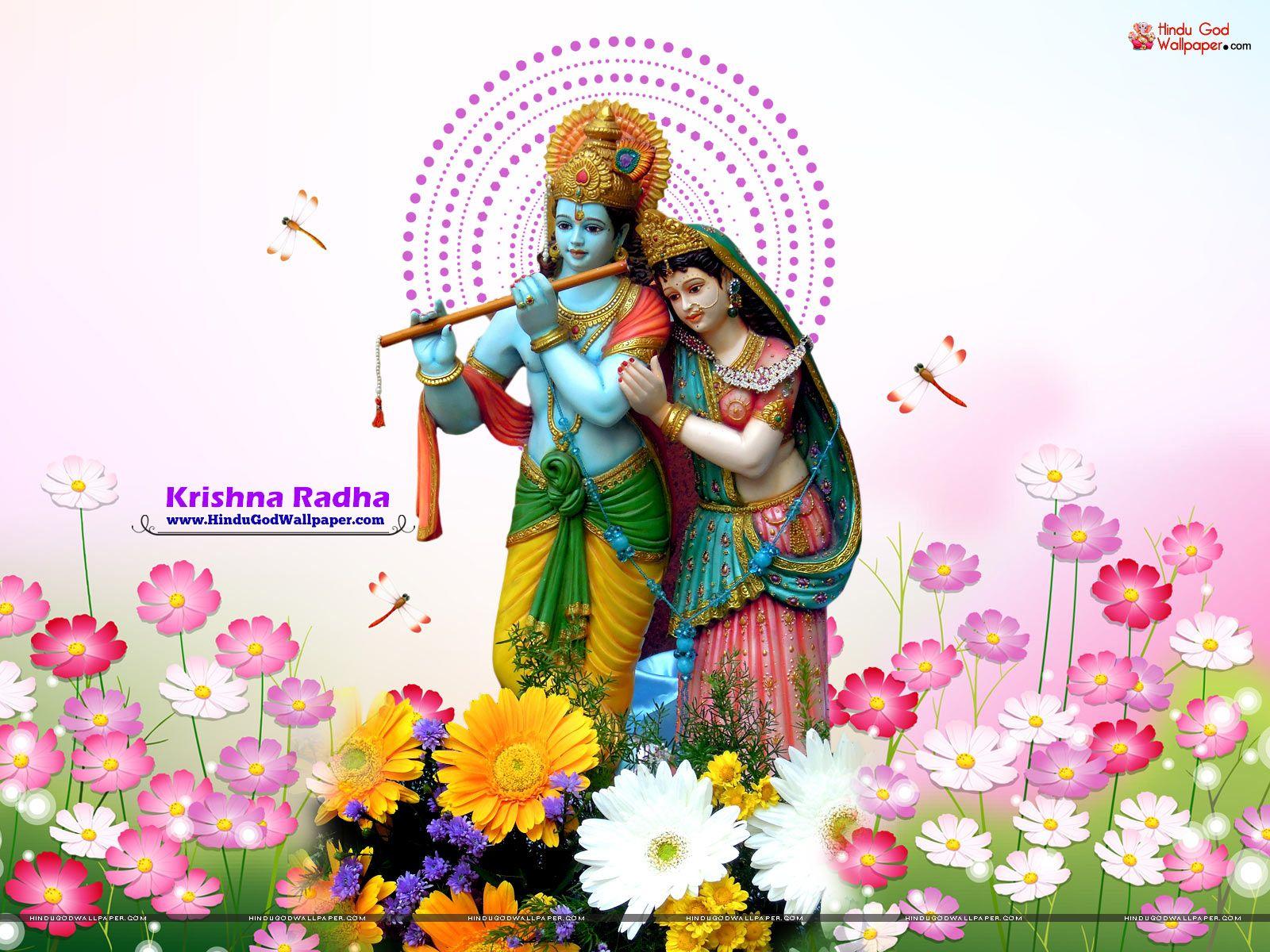 Lord Krishna And Radha Murti - HD Wallpaper