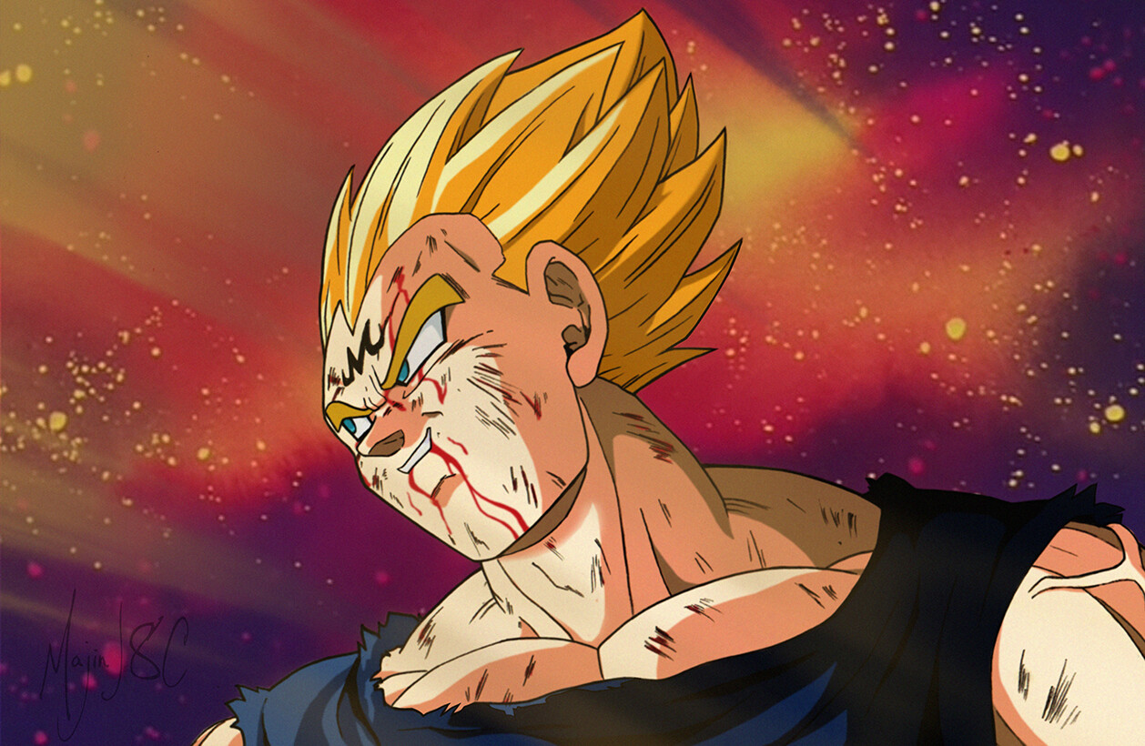 Majin Vegeta Sacrifice 1258x820 Wallpaper Teahub Io