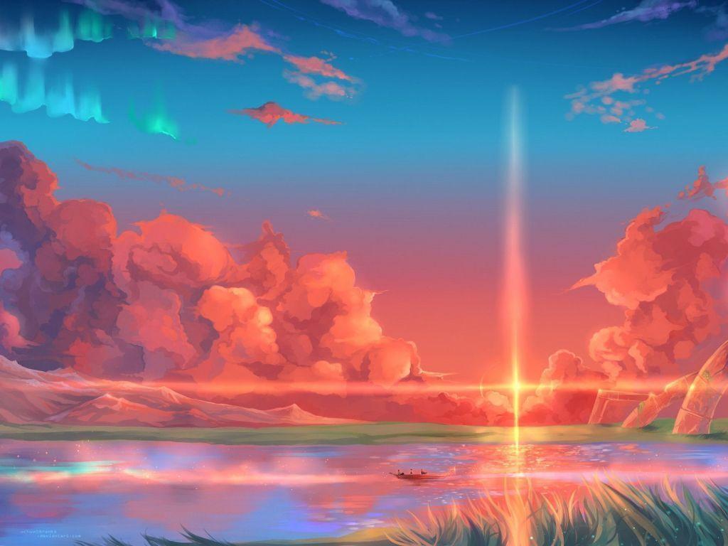 Beautiful Anime Scenery Aesthetic Wallpaper 4k 1024x768 Wallpaper Teahub Io