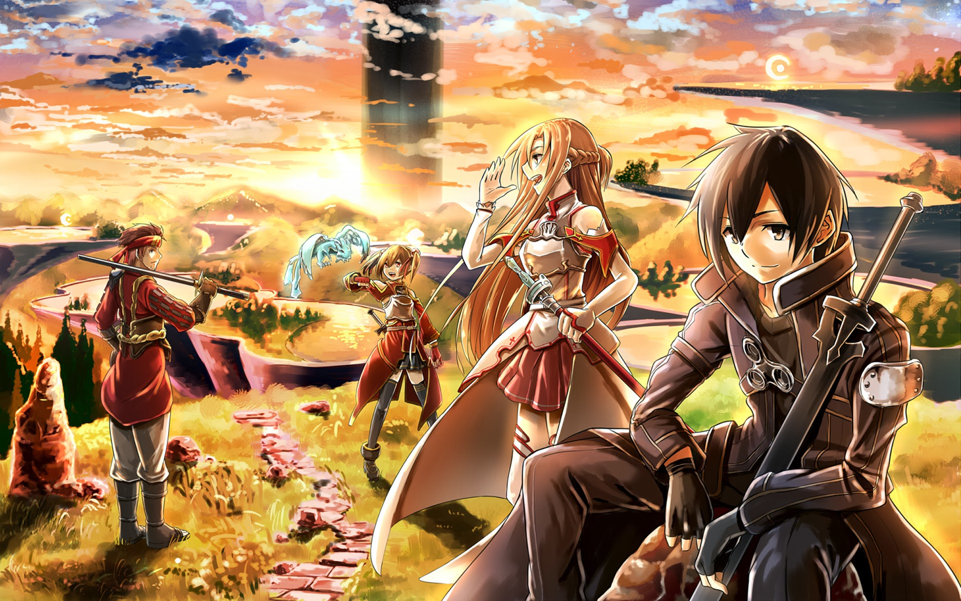 Sword Art Online Anime Sunset Hd ...