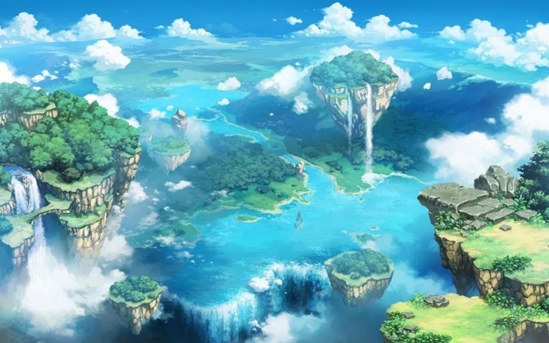 Anime Scenery Wallpaper - Desktop Background Anime Scenery - HD Wallpaper