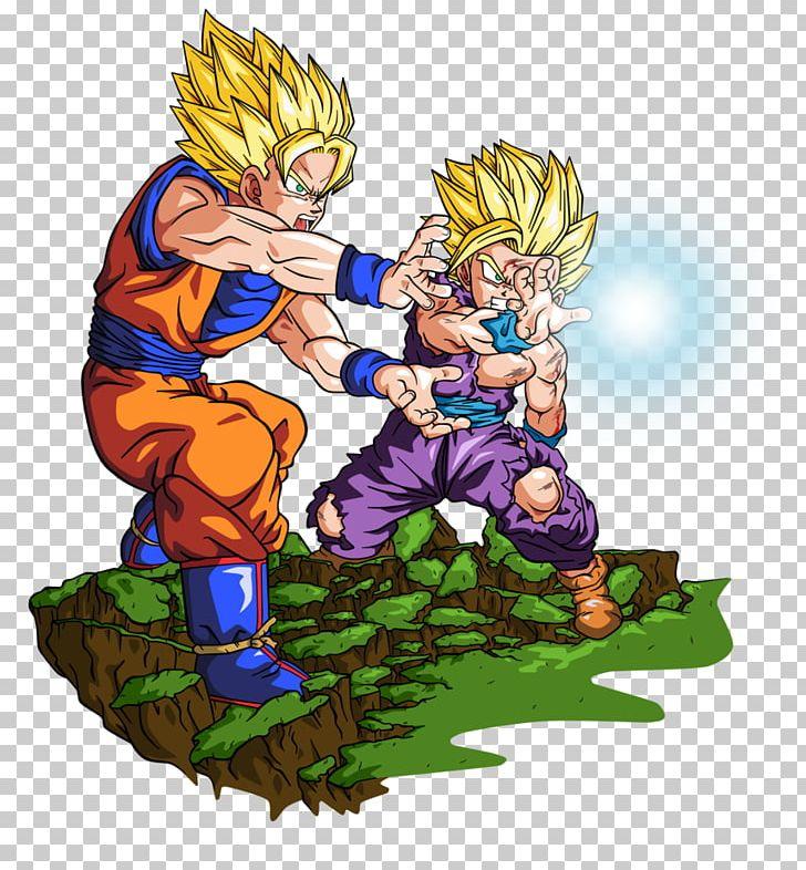 Gohan Goku Trunks Vegeta Majin Buu Png Clipart Art Dbz Kame Samber 728x786 Wallpaper Teahub Io