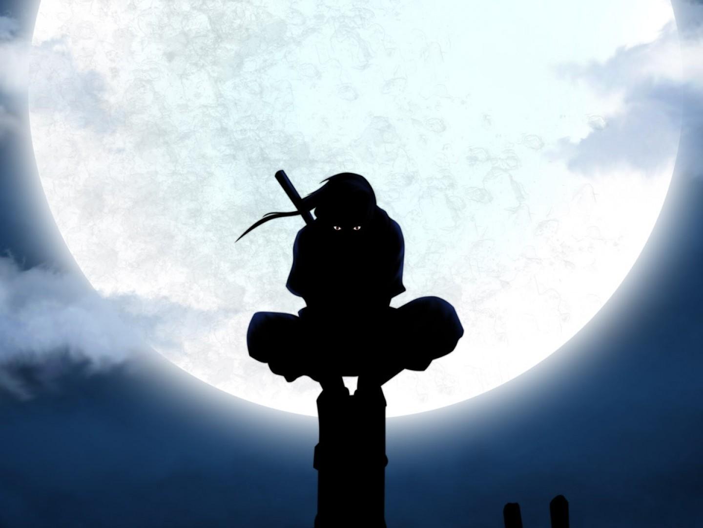 Luna Silueta De Naruto Shippuden Itachi Uchiha Animado - Itachi Uchiha - HD Wallpaper