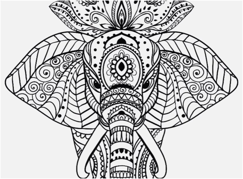 Coloring Pages Mandala Design Elephant Mandala Coloring - Free Mandala  Animal Svg - 827x609 Wallpaper - Teahub.io