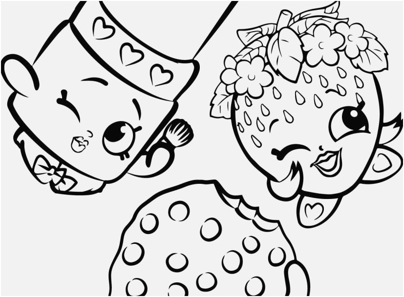 Cookie Coloring Pages Concept Free Shopkins Strawberry - Printable Shopkins  Color Page - 827x609 Wallpaper - Teahub.io