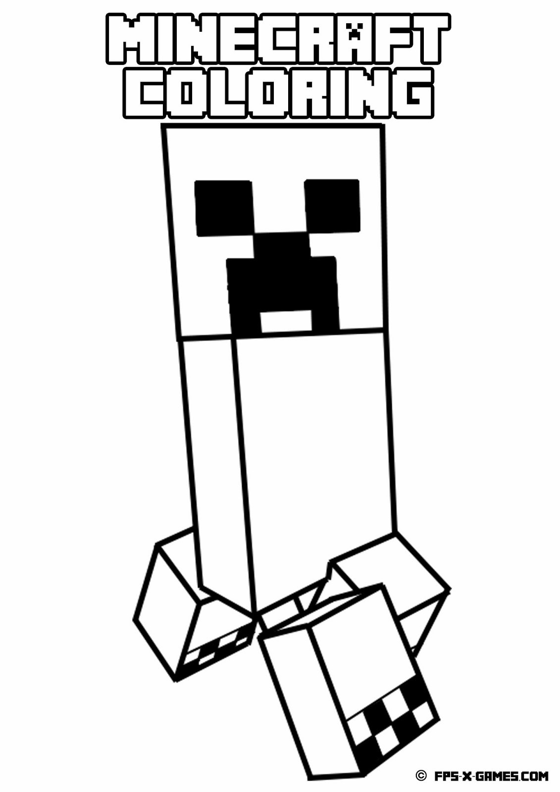 Top Minecraft Coloring Pages Steve With A Sword In Minecraft Creeper Colouring Pages 1131x1600 Wallpaper Teahub Io