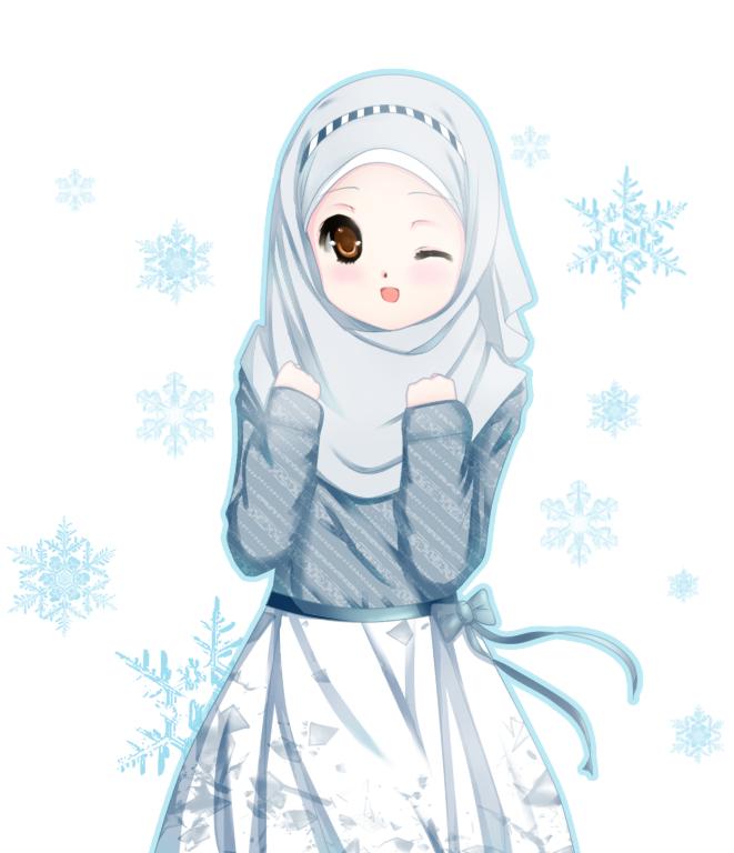 Kartun Muslimah Cantik Banget - HD Wallpaper