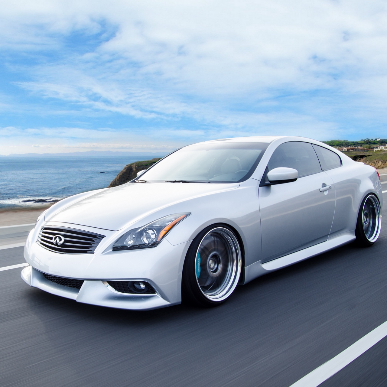 Wallpaper Infiniti G37 Coupe Side View Speed Infiniti G37 Coupe Iphone 1280x1280 Wallpaper Teahub Io