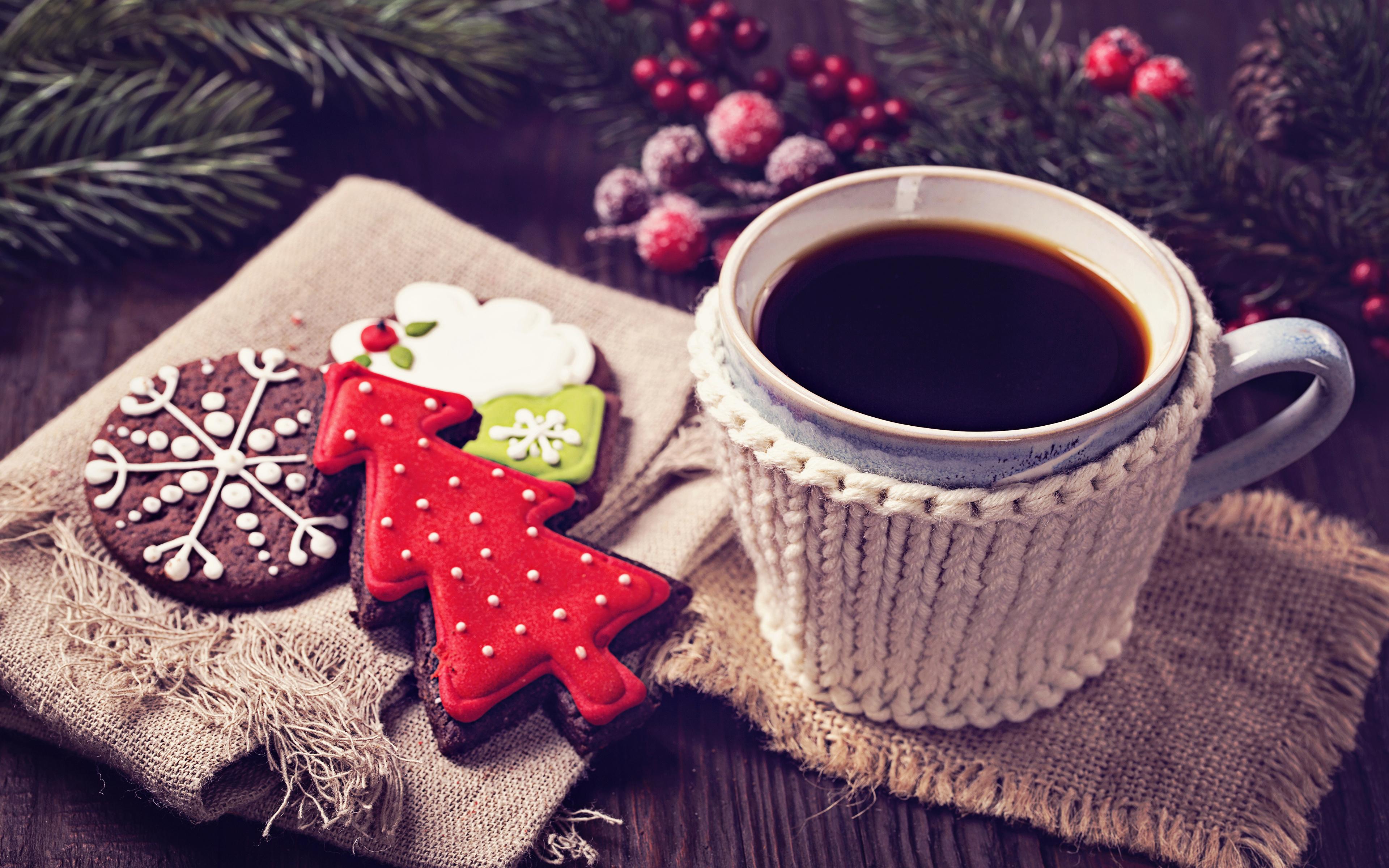 Christmas Coffee Wallpaper Hd 3840x2400 Wallpaper Teahub Io