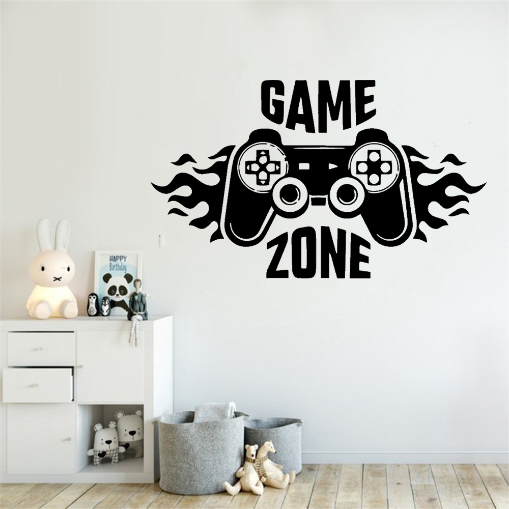 Lovely Game Zone Wall Stickers Vinyl Wall Art Decal - Bedroom Wall Drawing Ideas - HD Wallpaper