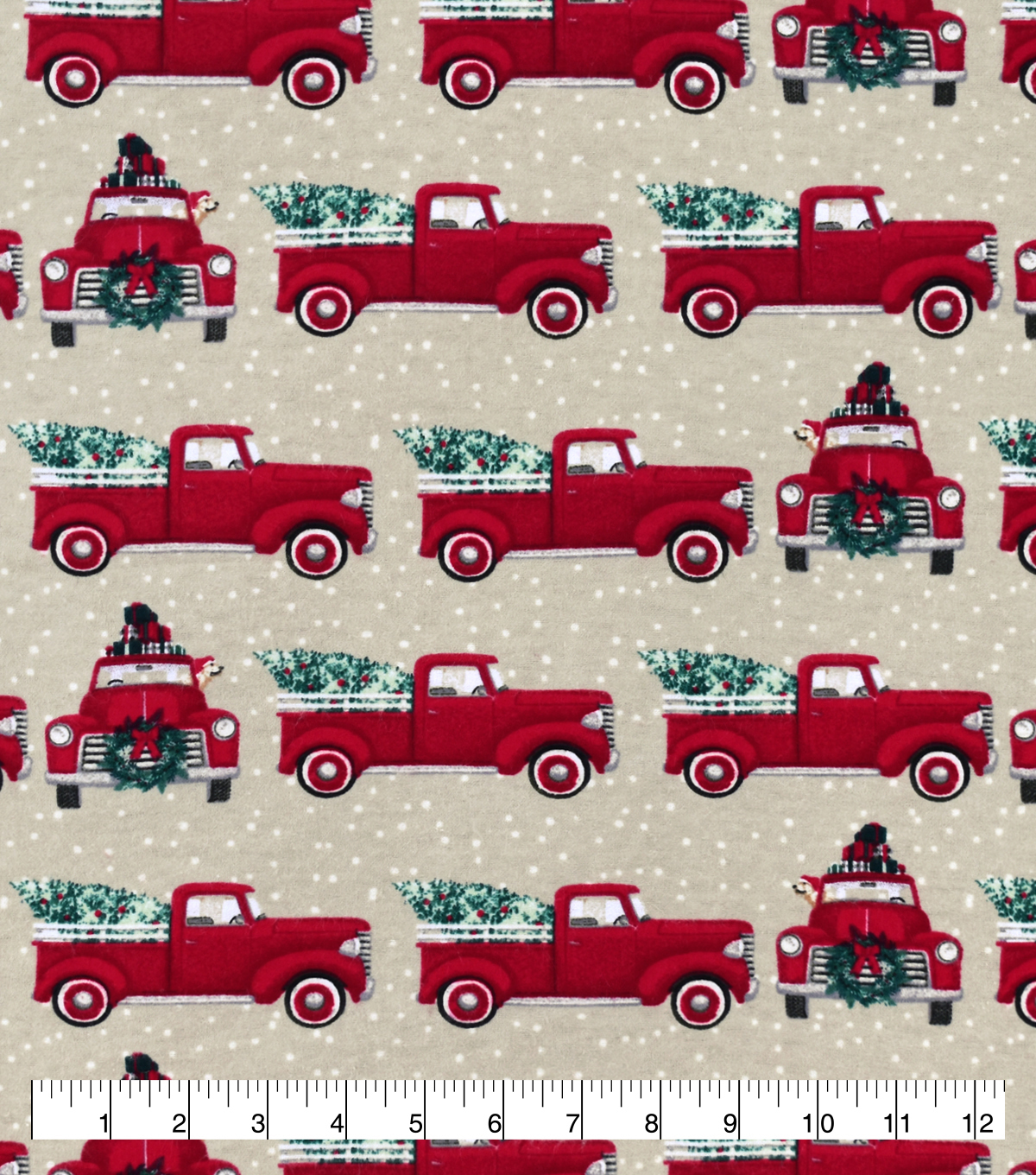 307 3077893 red truck christmas tree