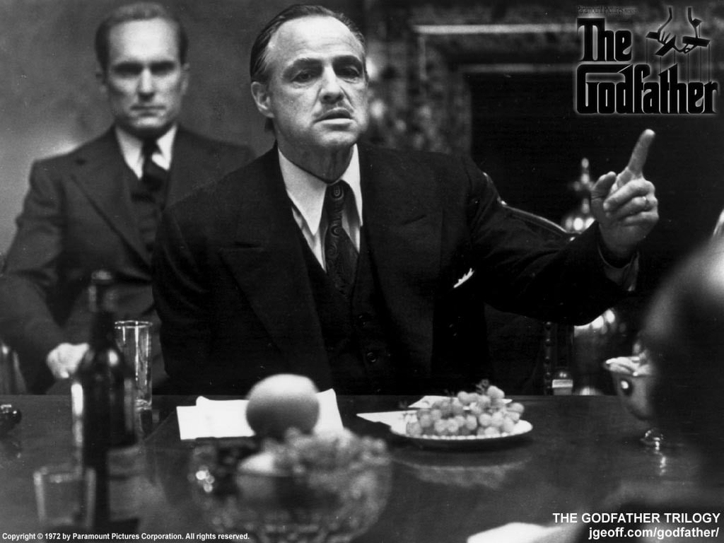 Don Corleone Eating Pasta - HD Wallpaper
