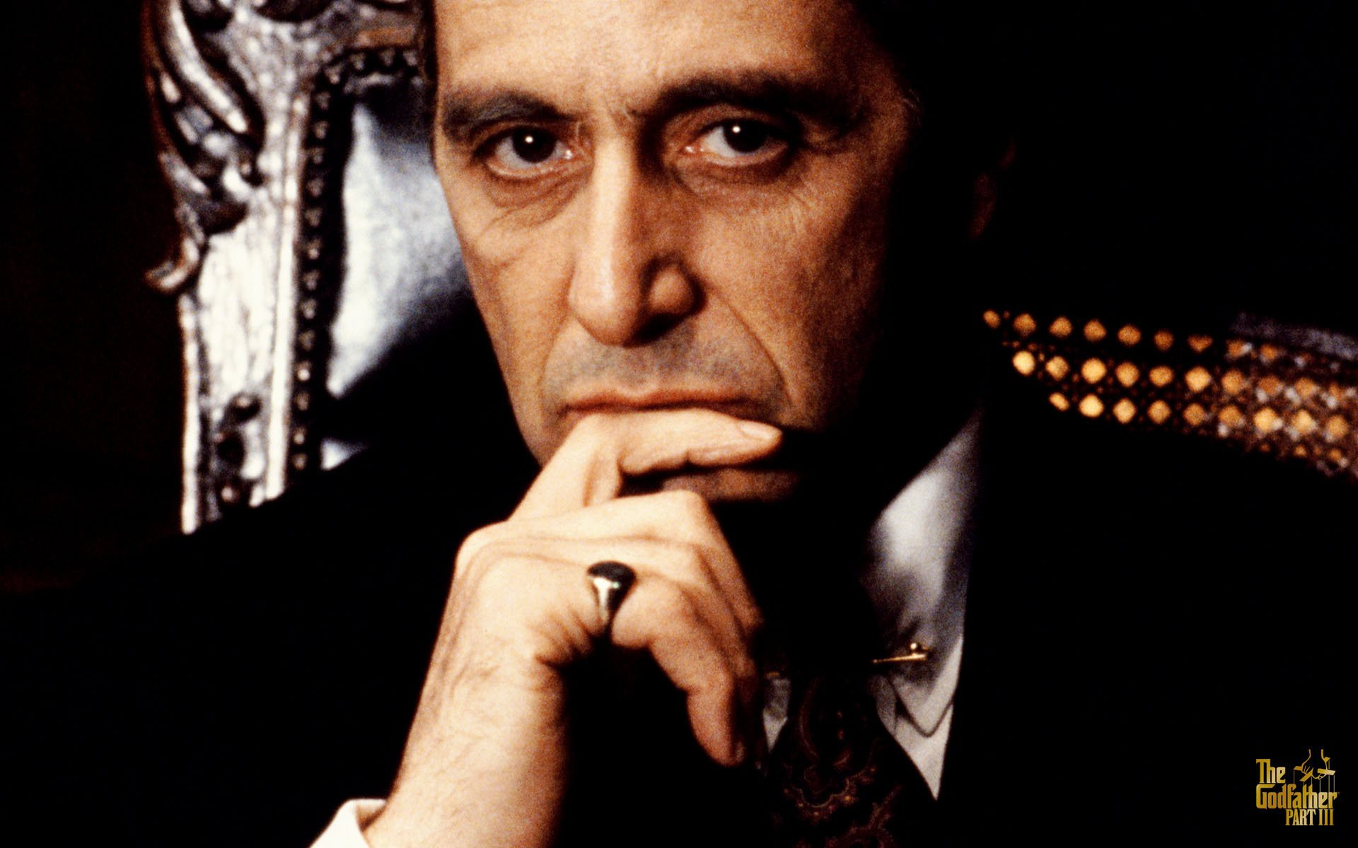 Movies The Godfather Monochrome Al Pacino Wallpaper - Godfather 3 - HD Wallpaper
