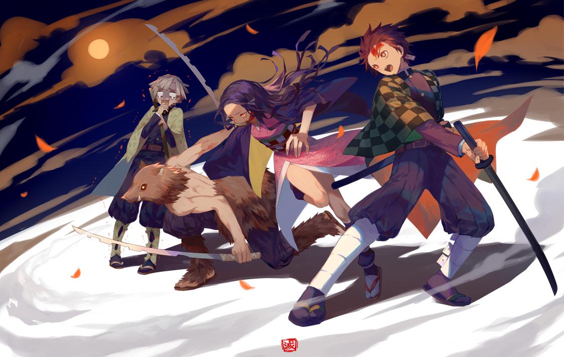Demon Slayer Kimetsu No Yaiba Fanart - HD Wallpaper