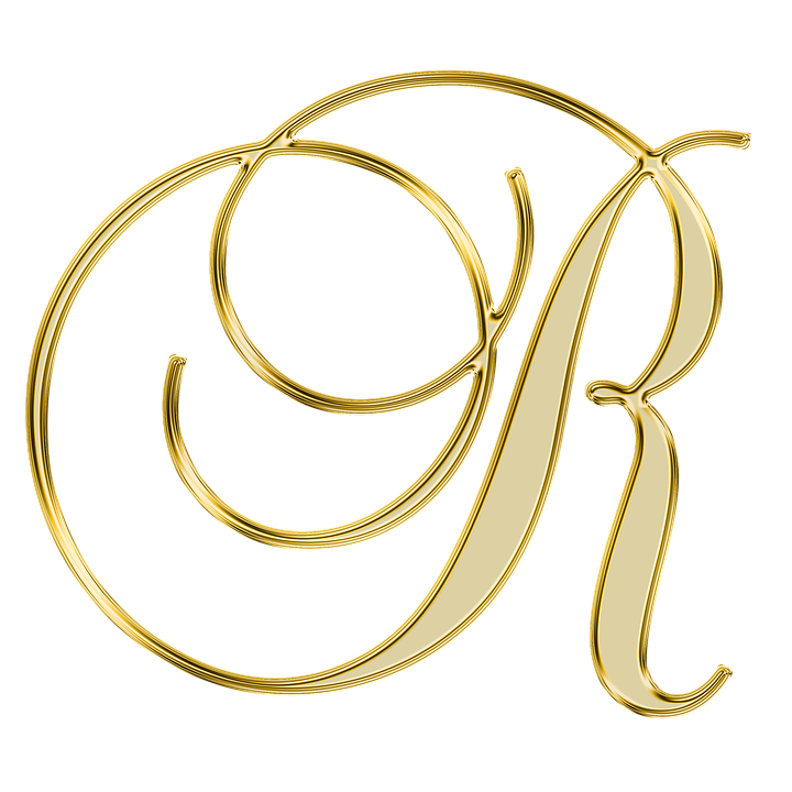 Gold Letter R With Diamonds - HD Wallpaper