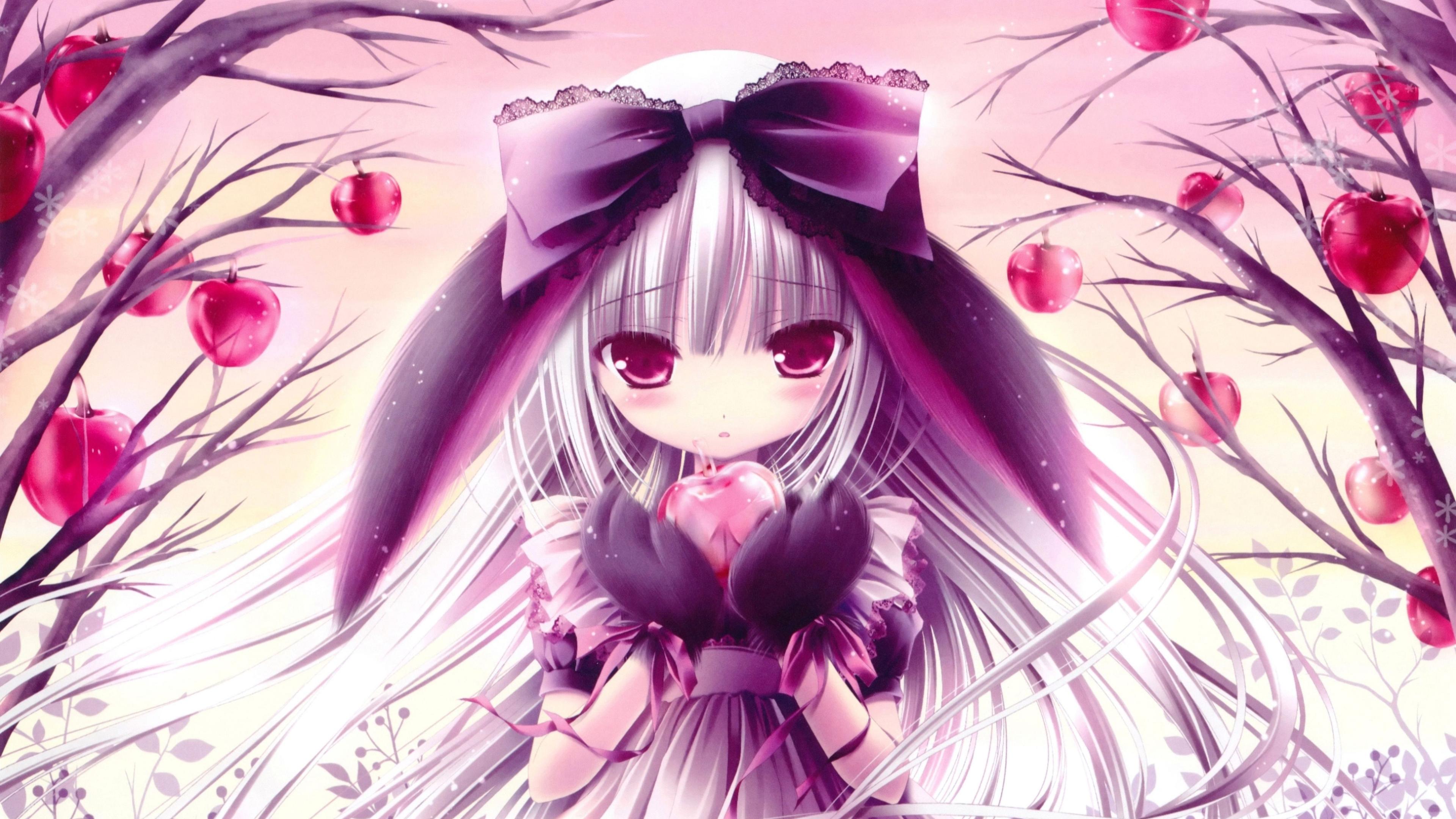 Anime Girl Holding Heart In Hand 4k - Girl Holding Heart In Hand - HD Wallpaper