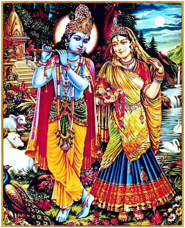 Whatsapp Dp Cow Wallpaper Shri Modern Radha Android - Profile Pic Radha Krishna - HD Wallpaper