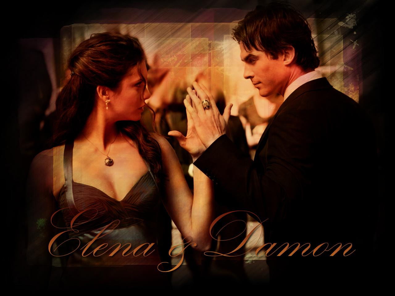 Vampire Diaries Love Forever - Damon And Elena Ball - HD Wallpaper