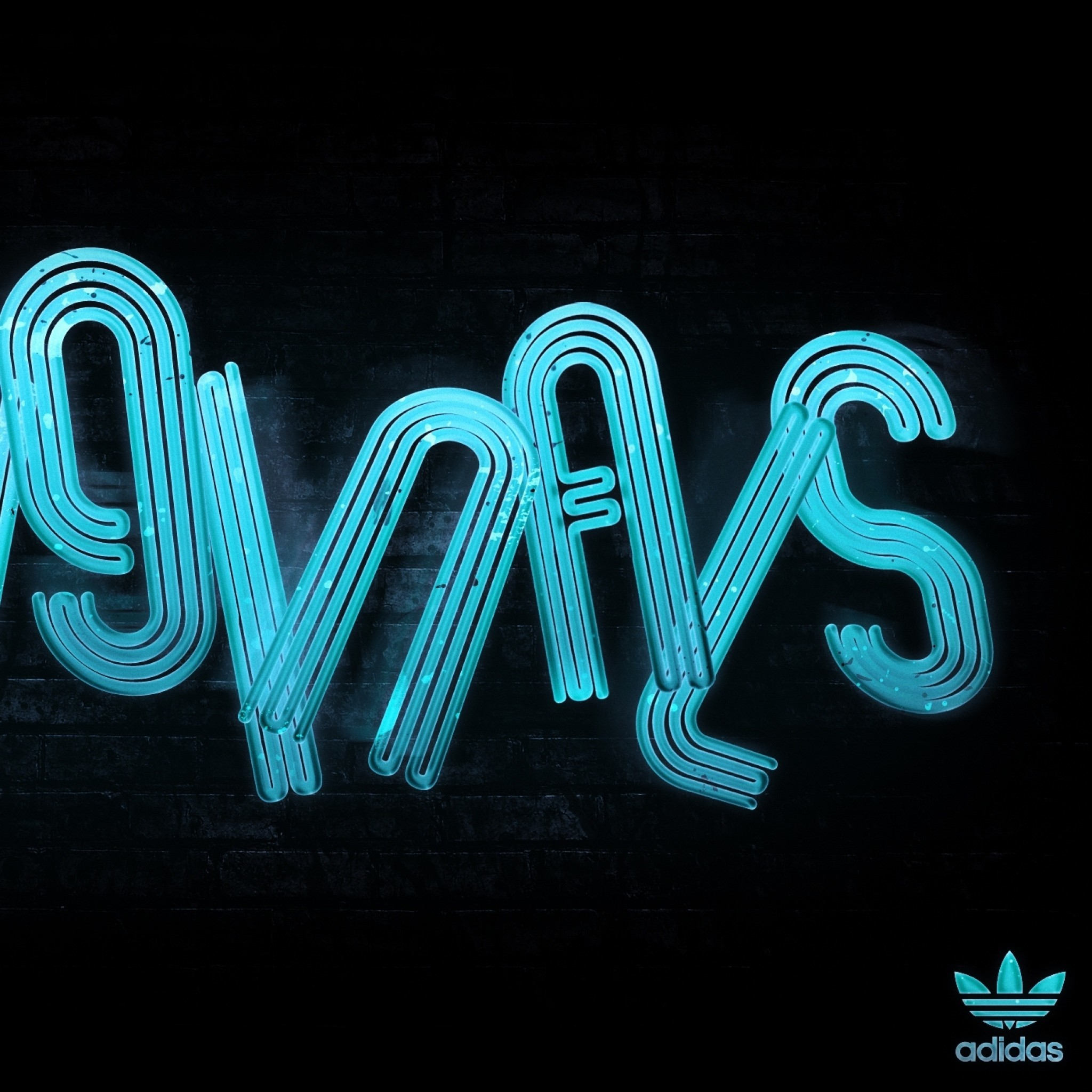 Preview Wallpaper Adidas, Original, Blue, Neon, Logo - Adidas Phone Case Iphone 7 Plus - HD Wallpaper