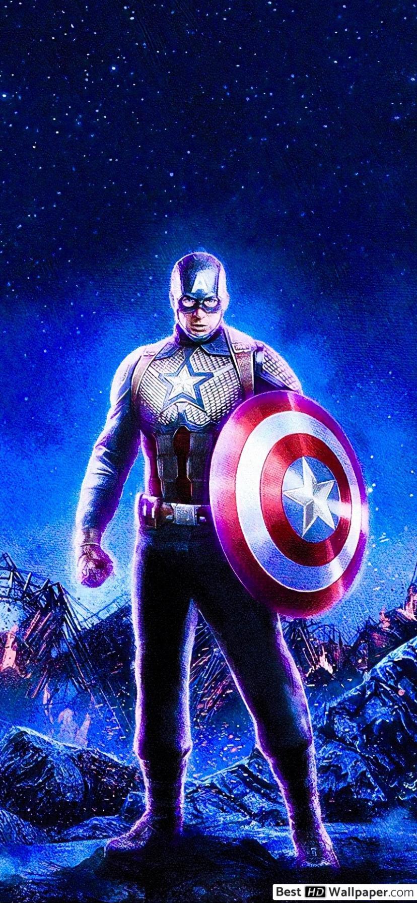 Avengers Endgame Iron Man Captain America Thor - HD Wallpaper