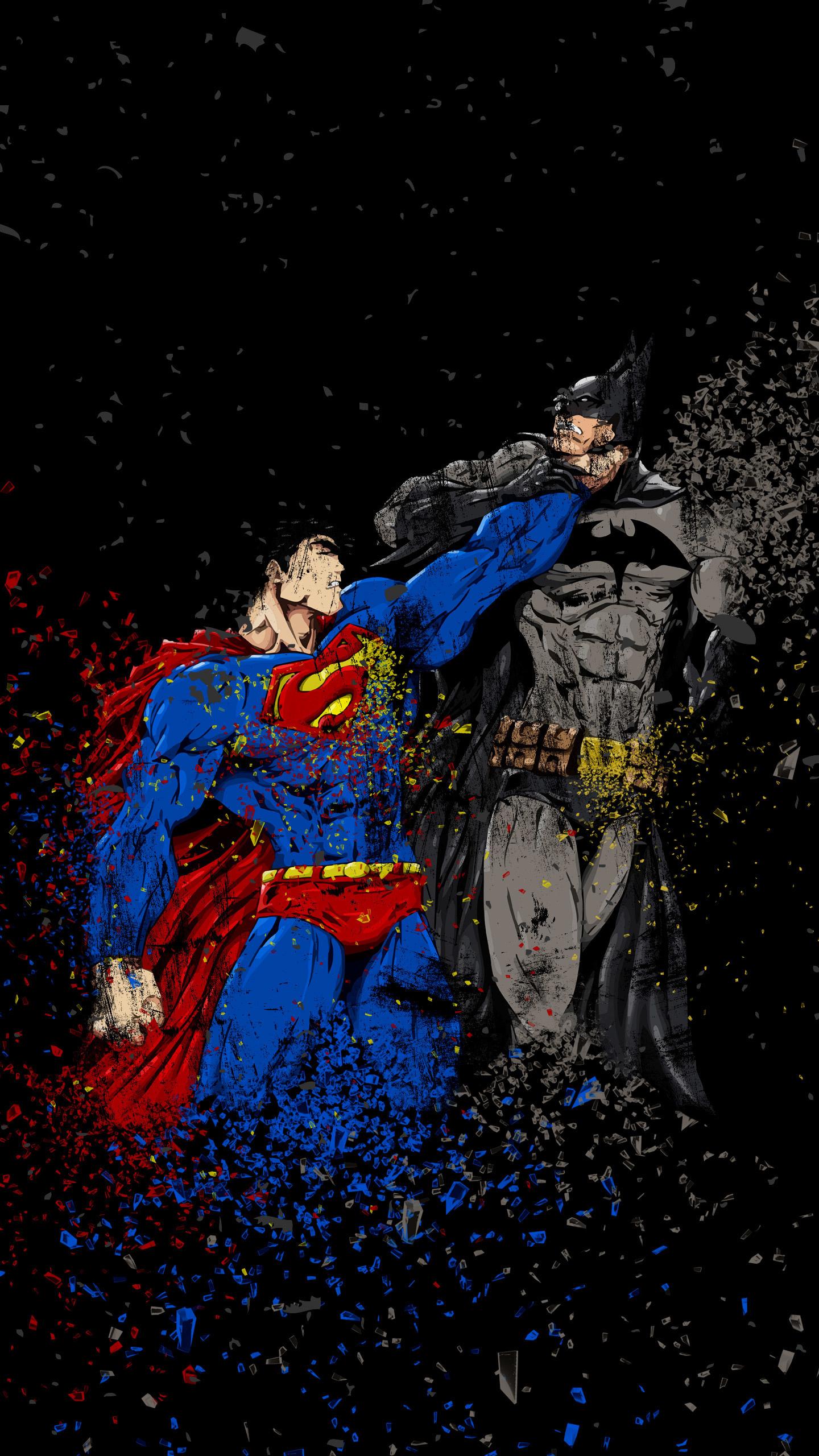 Batman Vs Superman, Ruggon Style, Art, Wallpaper - Iphone 7 Superman Wallpaper Hd - HD Wallpaper