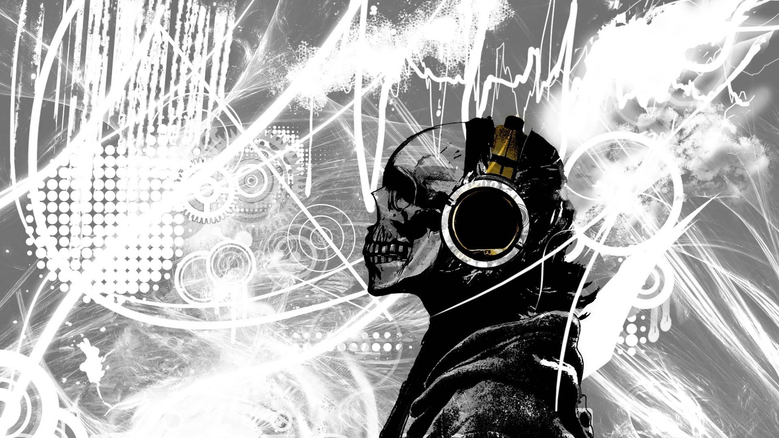 Cool Computer Backgrounds Skull 2560x1440 Wallpaper Teahub Io