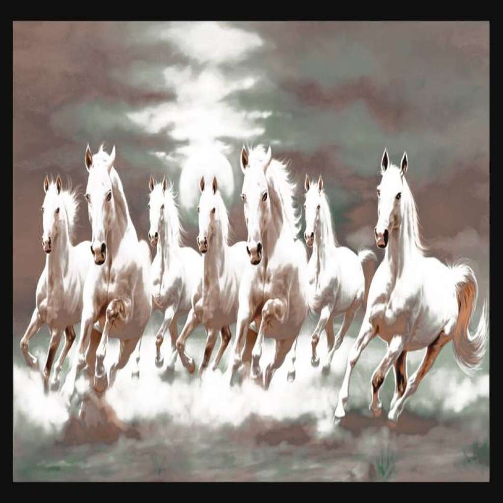 Seven Horses Hd Wallpaper 7 White Horse Wallpaper Hd Download 1024x1024 Wallpaper Teahub Io