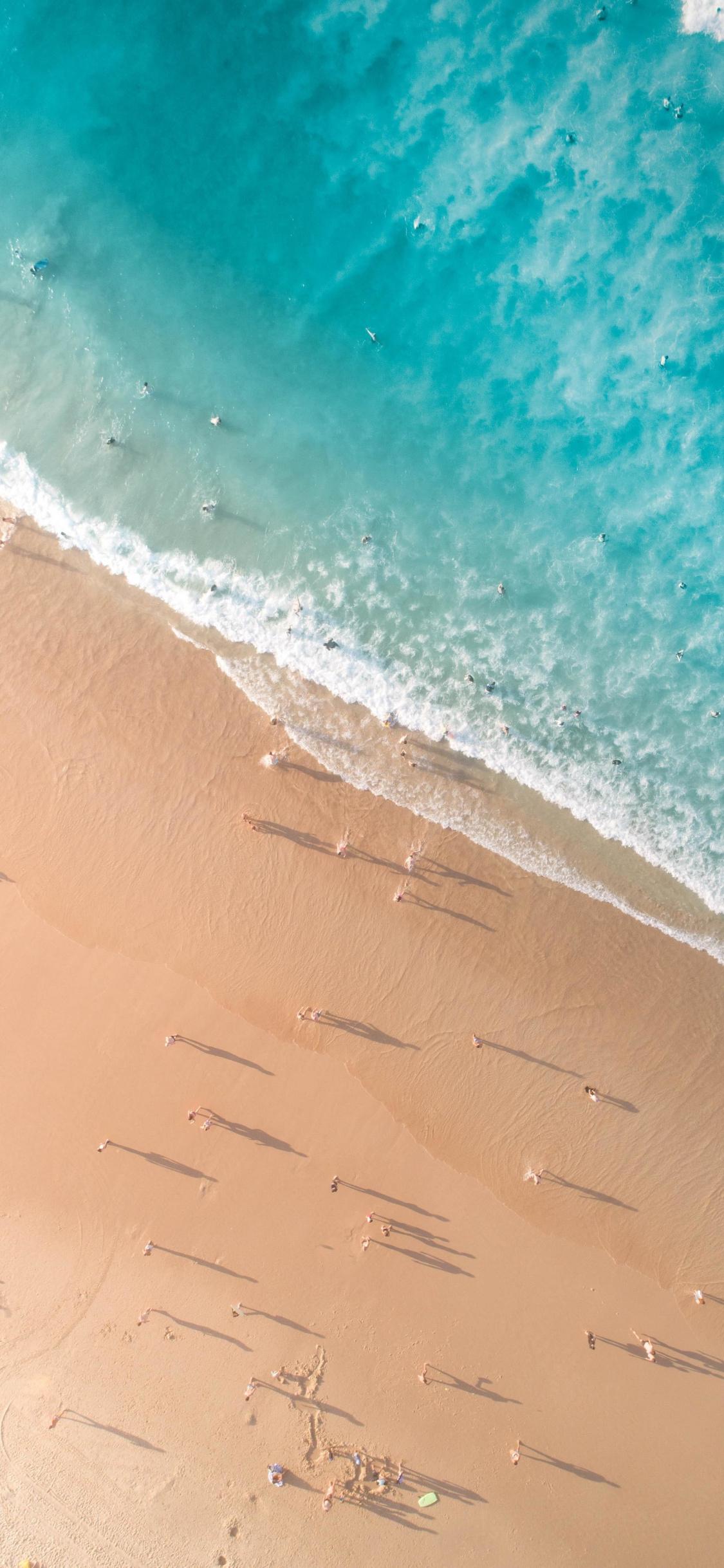 Aerial View, Calm And Peaceful Beach, Nature, Summer, - Iphone Wallpaper Ocean - HD Wallpaper