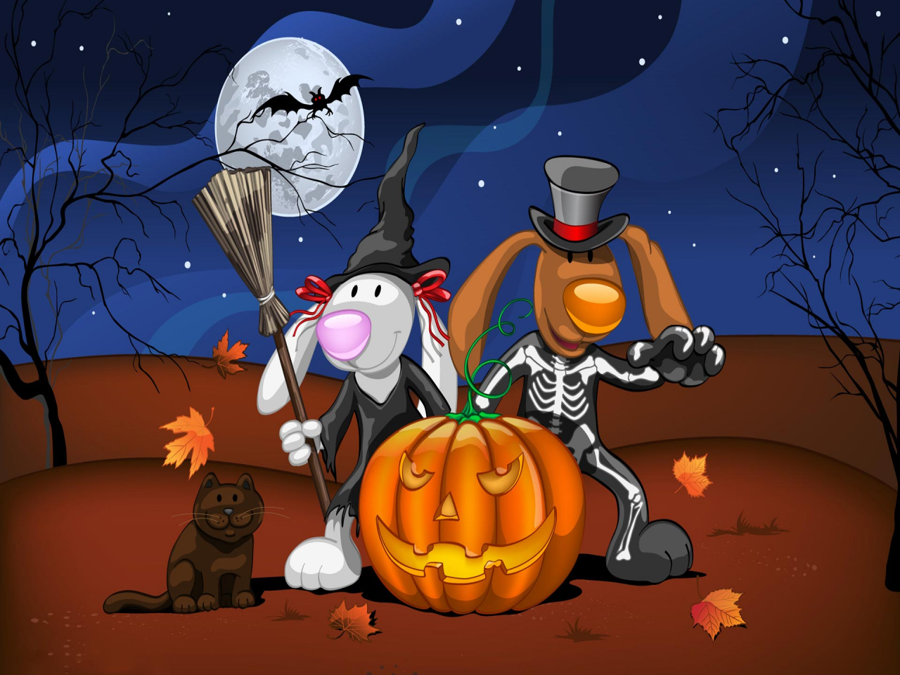 Disney Halloween Hd Wallpaper Widescreen - Animated Halloween Wallpapers Hd - HD Wallpaper