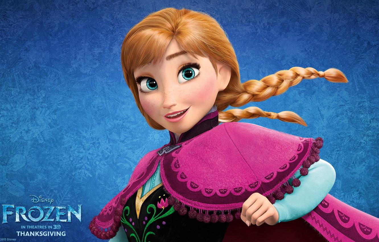 Photo Wallpaper Frozen, Anna, Walt Disney, 2013, Cold - Anna Frozen High Resolution - HD Wallpaper